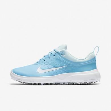 Zapatillas de golf Mujer Nike Akamai 818732-400 Vivid Sky / Glacier Azul / Blancas