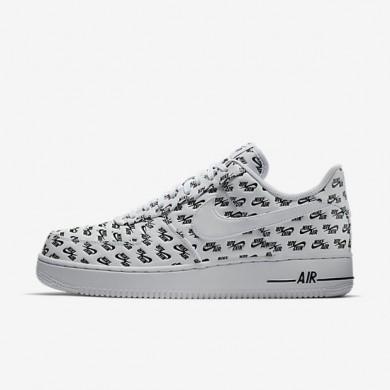 Zapatillas Hombre Nike Air Force 1 '07 QS AH8462-100 Blancas / Negro / Blancas