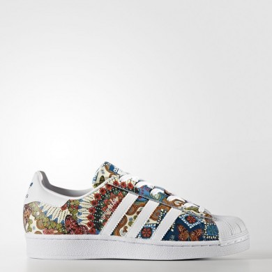Mujer Adidas Originals Zapatos Superstar Calzado Blancas / Calzado Blancas / Noble Teal BY9178